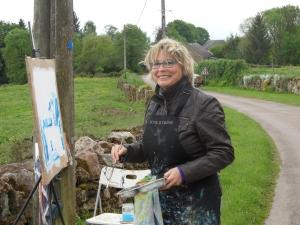 Schilderen in de Morvan, mei 2015