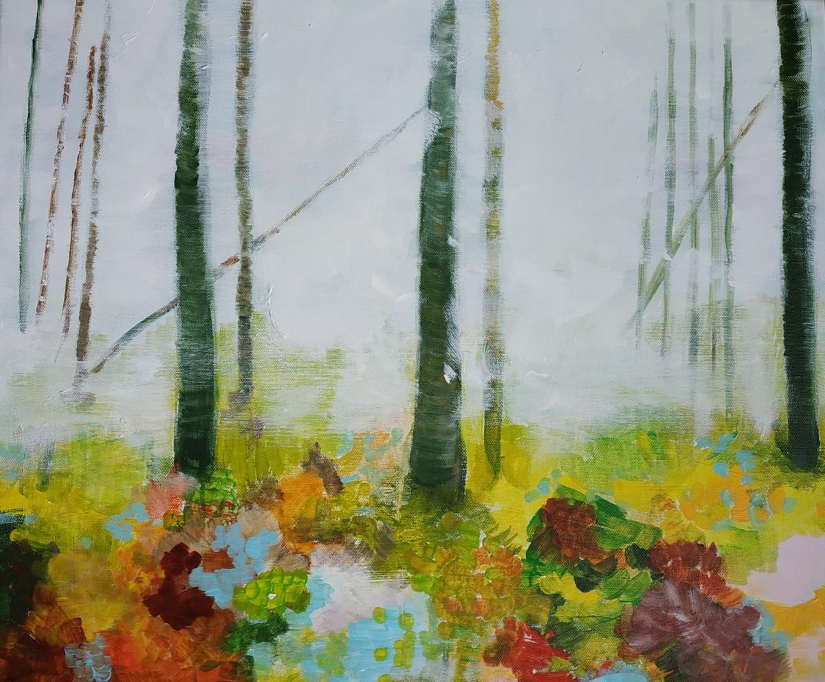 Bos in de mist klein